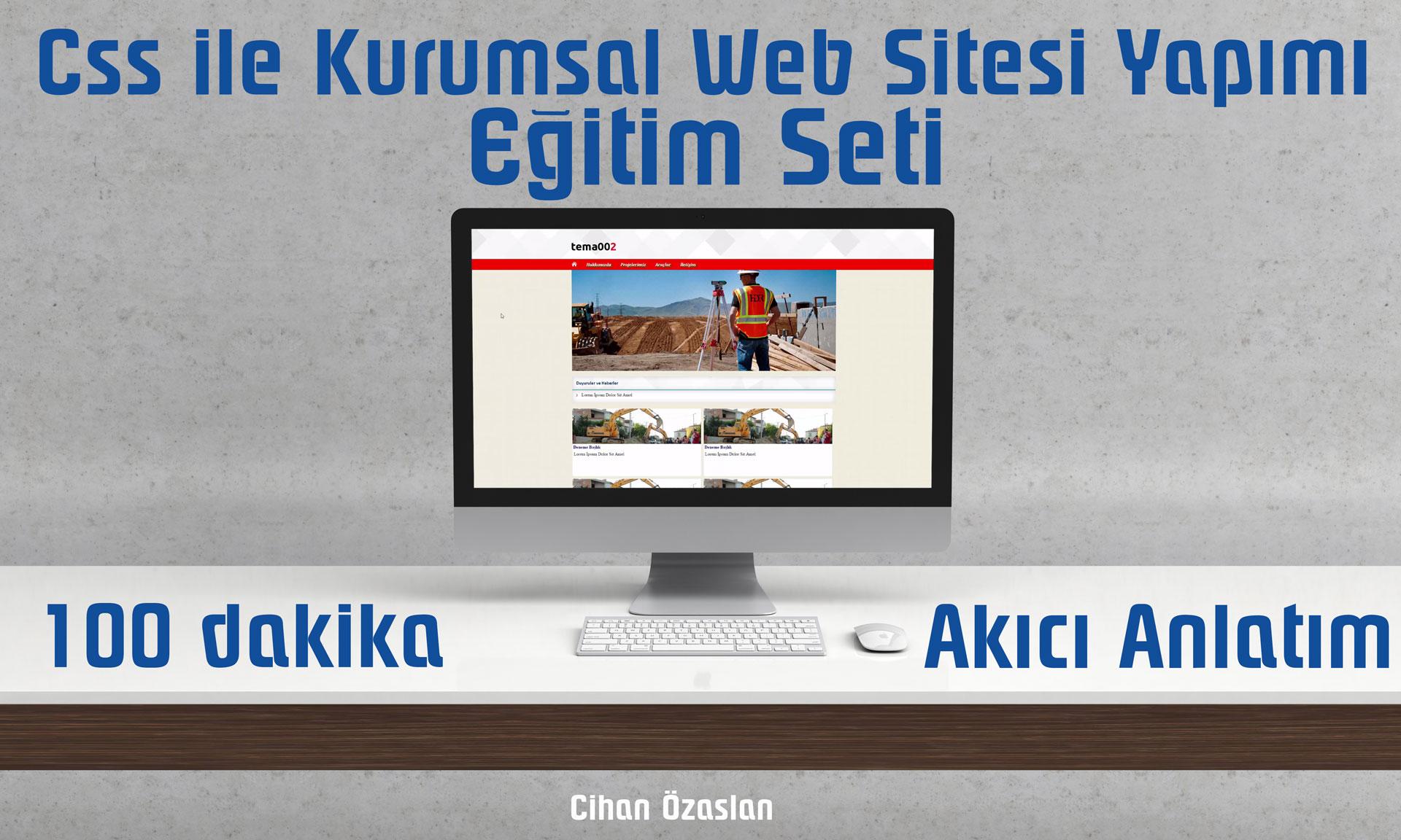 CSS ile Kurumsal Web Sitesi Yapımı