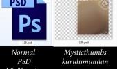 PSD öngörüntü çözümü (PhotoShop dosyaları için)