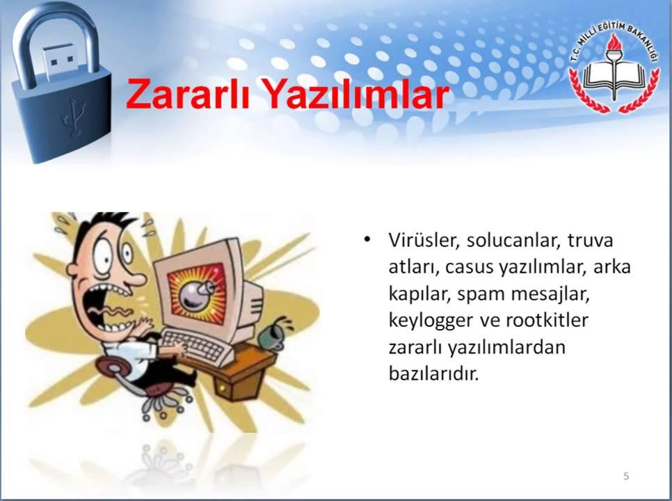 Zararlı Yazılımlar ve Saldırı Araçları (5)