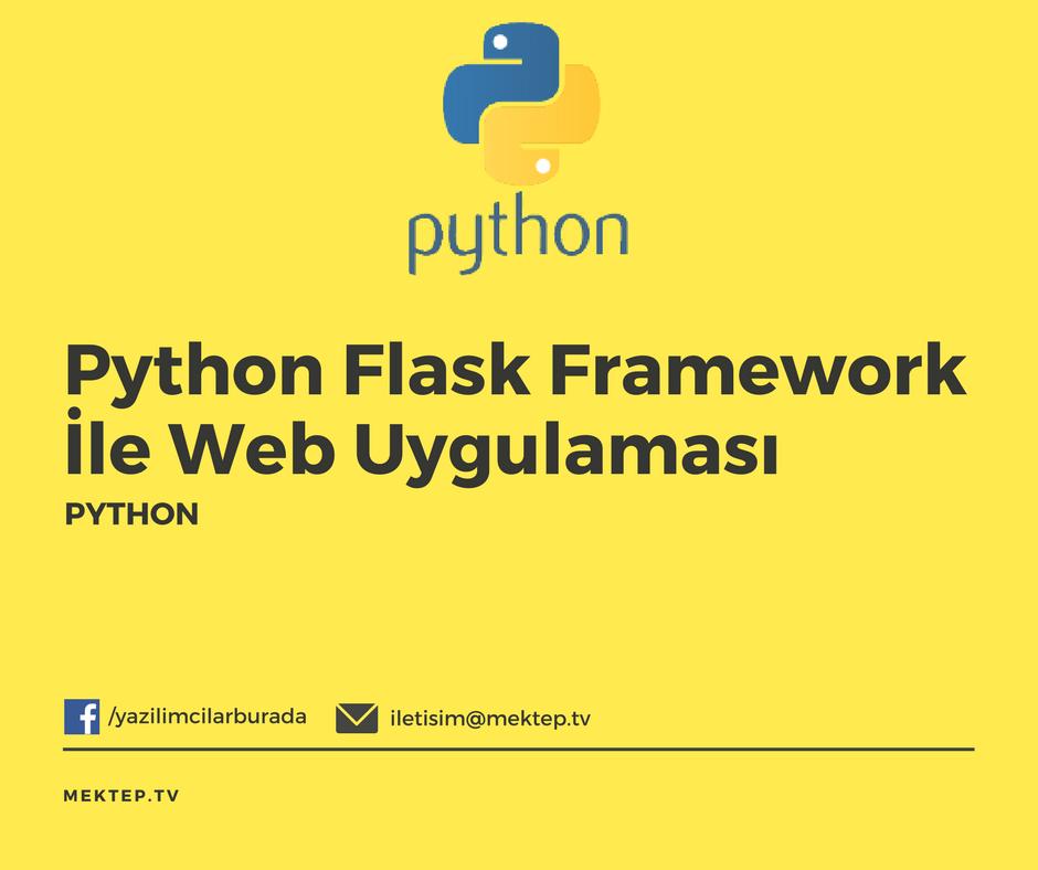 Python ve Flask Framework ile Web Uygulaması Geliştirelim